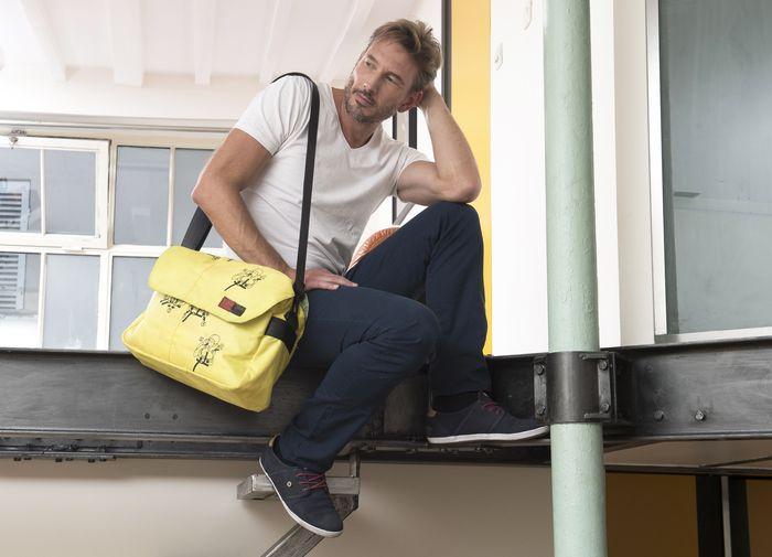Marron Rouge lance ses sacs en sacs de ciment recyclés
