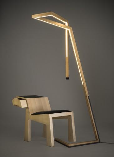 luminaire Furie et meuble mante imaginés par Vendredis