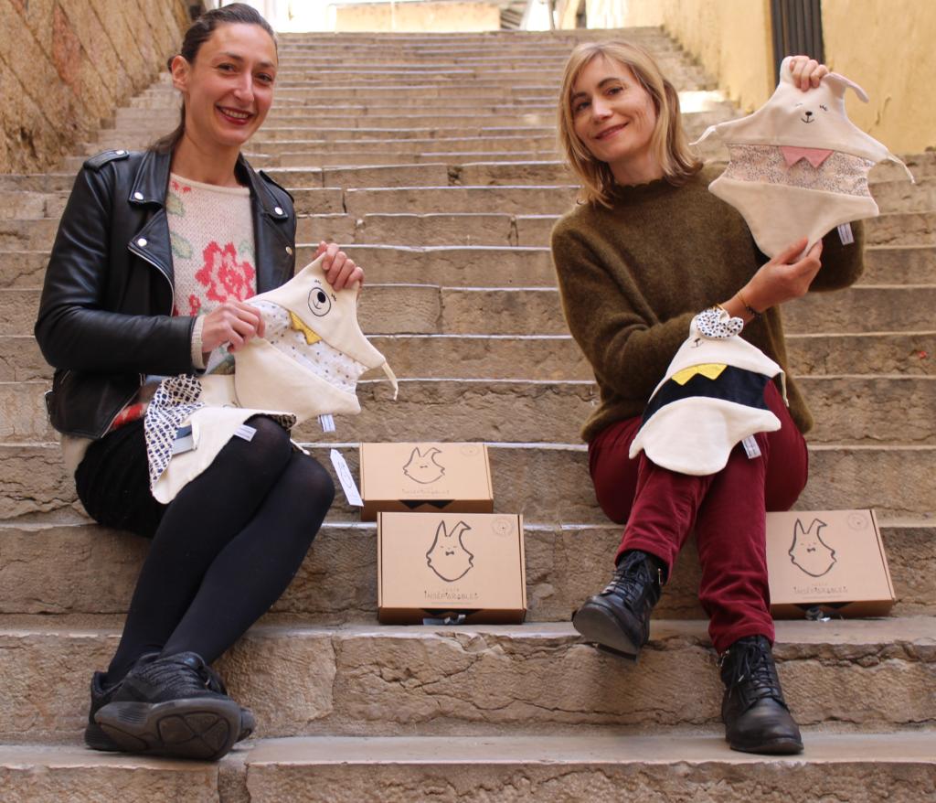 Les deux créatrices lyonnnaises de la marque Juste Inséparables présentes au Pop Up Store Douce France