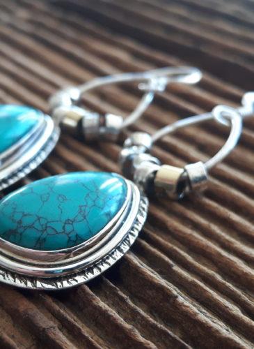 boucles-doreilles-argent-turquoise-omyoki-bijoux-éthique