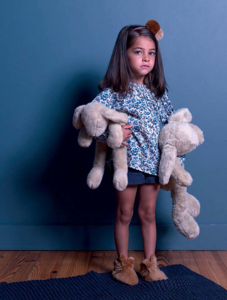 Petite fille chaussons Liloudou de Jolee Mome