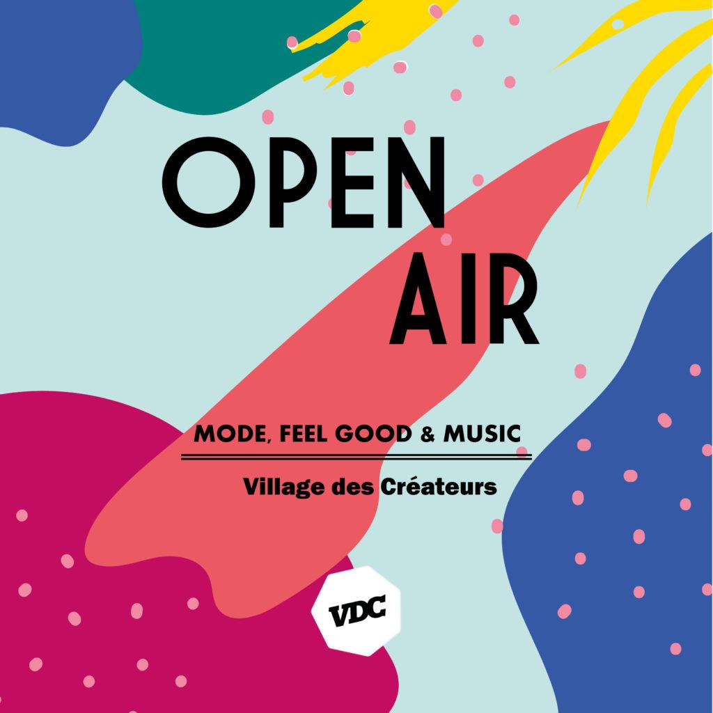 Flyer de l'événement Open Air organisé par le Village des Créateurs