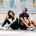 Mannequins homme et femme portant des vêtements de sport NOSC