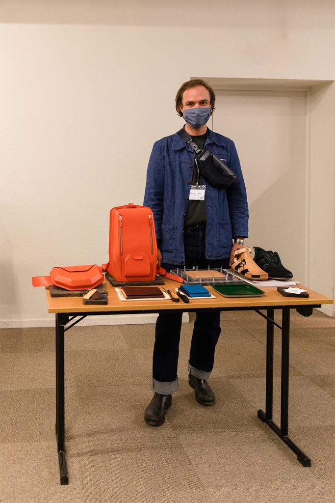 Dorian Cayol, un des cfondateurs de Mains d'Œuvre et leurs produits