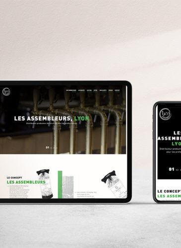 Design web pour Les Assembleurs fait par Tico Lab