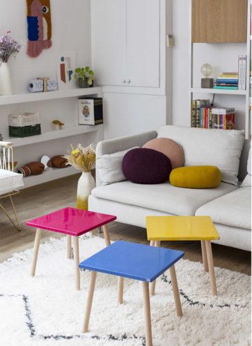 Tables colorées Tizù