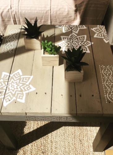 Table basse rénovée par Anna
