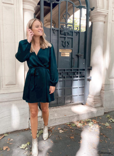 Robe en satin collection by Alice